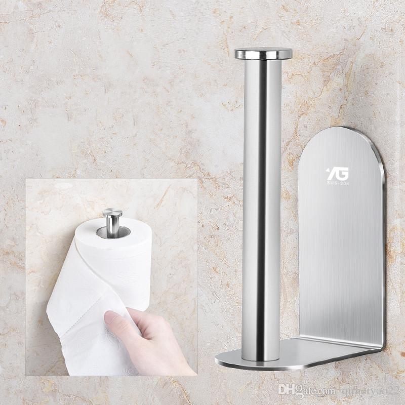 Soporte de papel de cocina de acero inoxidable Baño Montado en la pared Soporte de rodillos Cocina Papel higiénico Portarrollos de plata