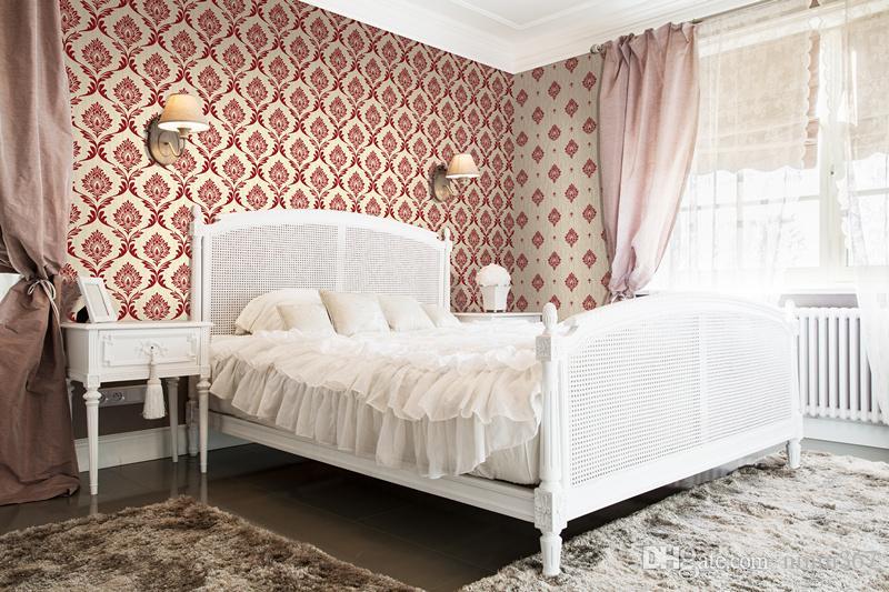 53 * 10,00 Mt Luxus Moderne Metallic Damast samt gefühl Herde Tapeten Tapeten Für Wohnzimmer