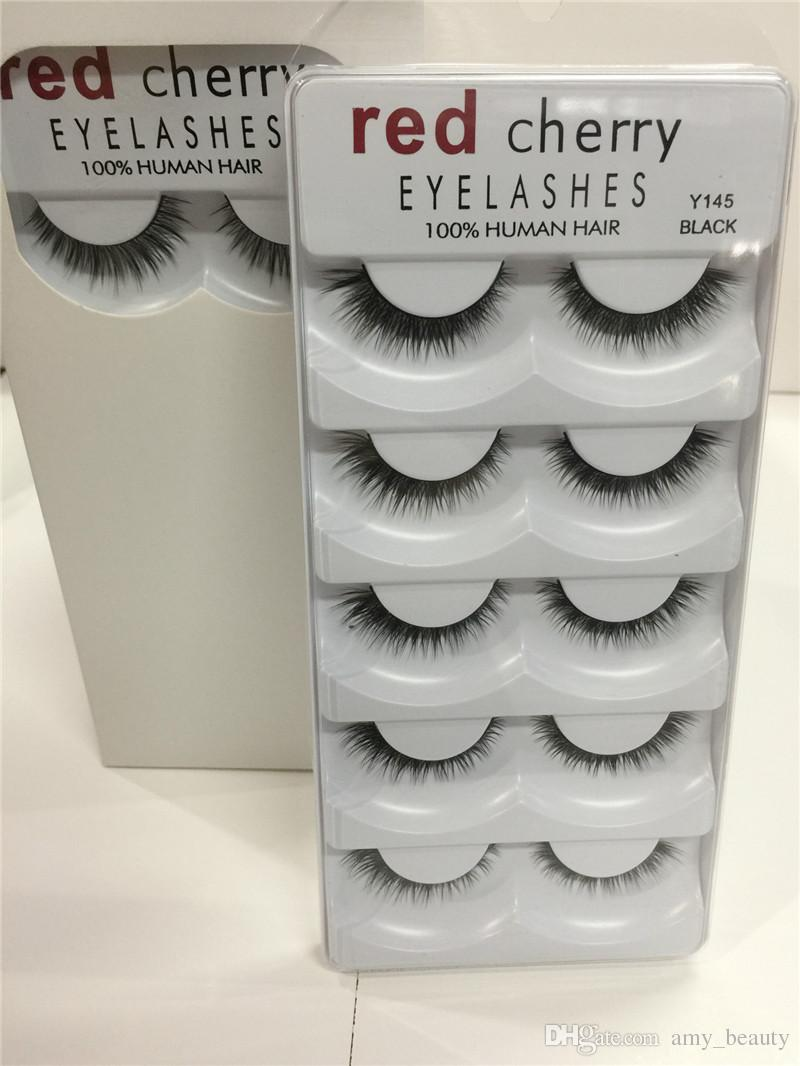 In stock!!makeup Red Cherry False eyelashes /pack 8 Styles Natural Long Professional makeup Big eyes High Quality By epacket