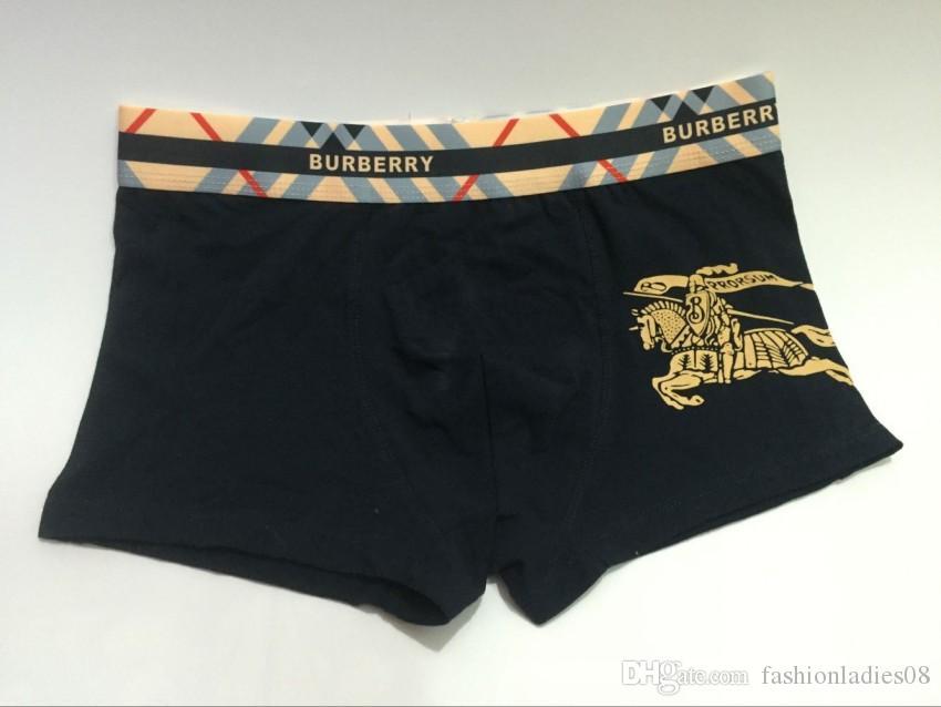 Fashion sexy cotton boxer for men boys new luxury brand letter print underwear for men high breathable comfortable men boxer underwear
