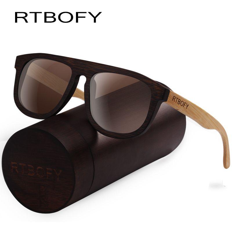 32d1ba0a5be94 Compre Rtbofy Óculos De Sol De Madeira Para Homens Mulheres Frame De Bambu  Eyeglasse Lentes Polarizadas Óculos De Projeto Do Vintage Shades Proteção  Uv400 ...