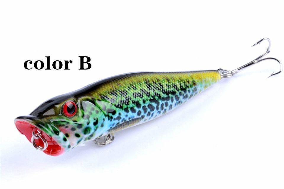 9.5cm 12g Popper Fishing Lures 3d Eyes Bait Crankbait Wobblers Tackle Isca Poper Pesca Japan New Arrival