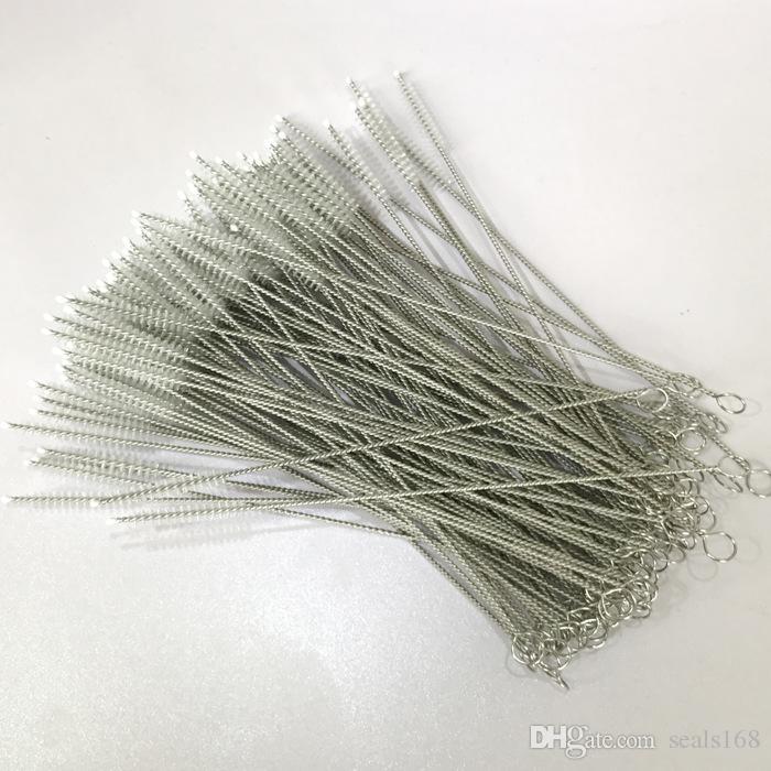 Cannucce in acciaio inox Spazzola pulizia Tubo Tubo Tubo biberon Riutilizzabili Strumenti la pulizia della casa 175 * 30 * 5mm HH7-1071
