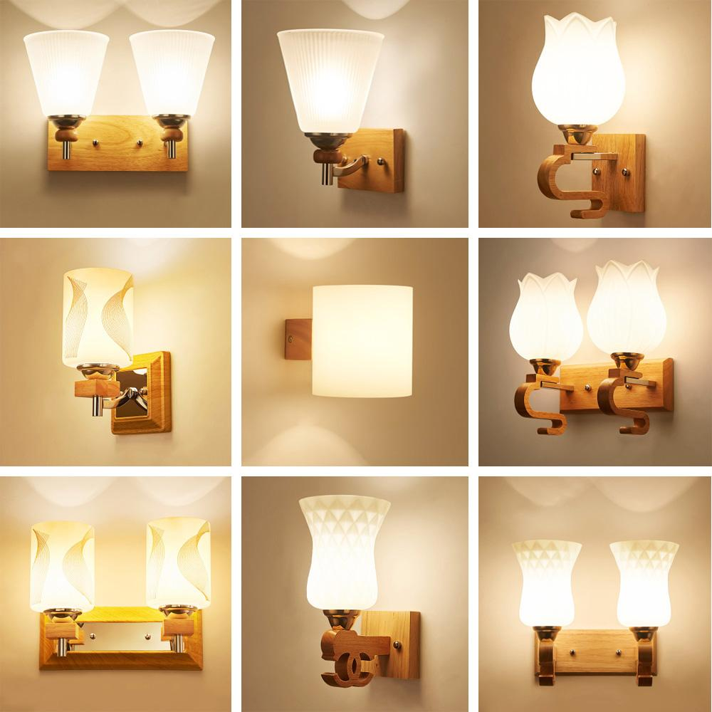 2019 wood wall lamp led wall mounted bedside reading lamps 110 220v flexible light rustic sconces e27 luminarias from hogon 52 08 dhgate com