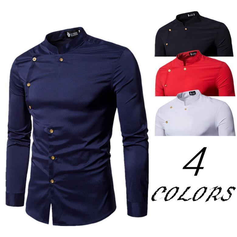 2019 Stylish Cotton Shirts Men Boy 2018 Spring New Long Sleeve Mens