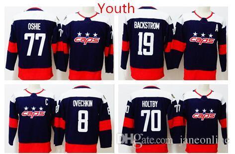 2018 Youth Washington Capitals Hockey 8 Alex Ovechkin 77 T.J. Oshie 19  Nicklas Backstrom 70 Braden Holtby Kids Stadium Series Hockey Jersey 2018  Youth Alex ... fd24f5b7d