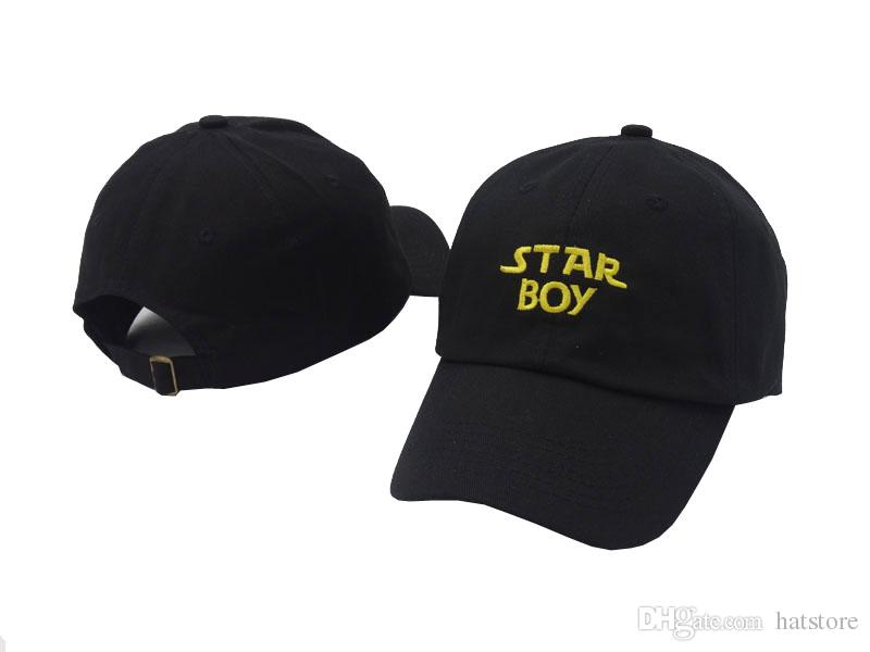 ac23247c8165ef 2018 The Weeknd Starboy Black Newest Fashion Style Unisex Men Women Sun Cap  Golf Peaked Sport Hat Casquette Superman Cap Hat Embroidery From Hatstore,  ...