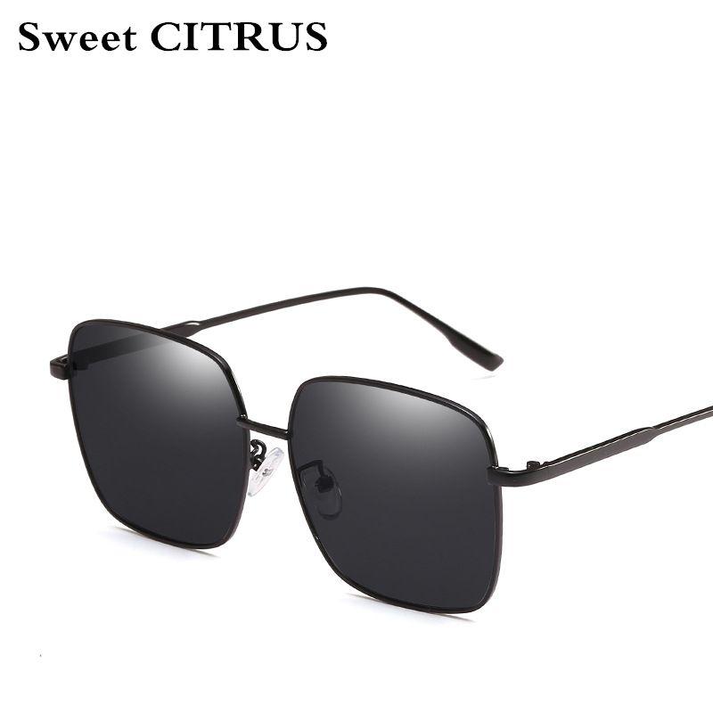 4a5005789fdc Sweet CITRUS Fashion Brand Designer Sunglasses Women Oversized Square Sun  Glasses Men Vintage Metal Big Frame 2018 Gafas De Sol Gafas De Sol De Sol  Brand ...