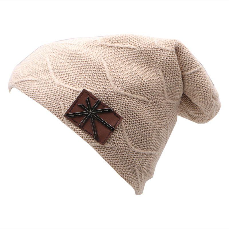 6ed47ef8c6d KLV Men s Women s Knit Baggy Beanie Oversize Fashion Winter Hat Ski ...