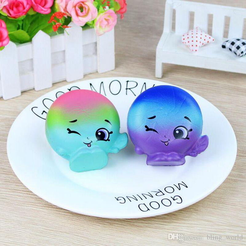 Vegetable Squishies Funny Slow Rising Bread Cake Pendant Charm Toy Stretchy Squeeze Cream 1 YW894