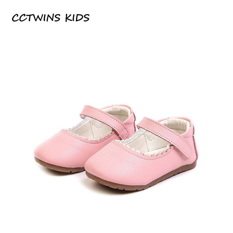 be996106942cf Acheter Cctwins Kids 2018 Printemps Enfants Mode Premier Marcheur Bébé Fille  En Cuir Mary Jane Toddler Marque Parti Princesse Chaussure Fw083 De  32.88  Du ...