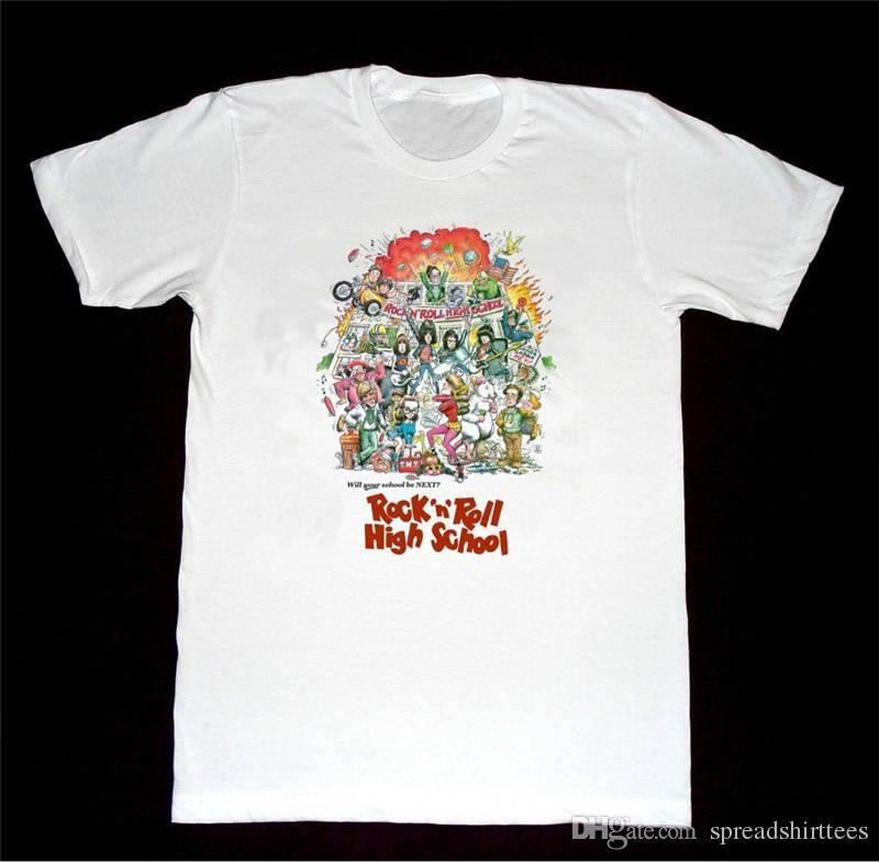 Cool T Shirt Designs Funny Crew Neck Rock Roll High School Short ...