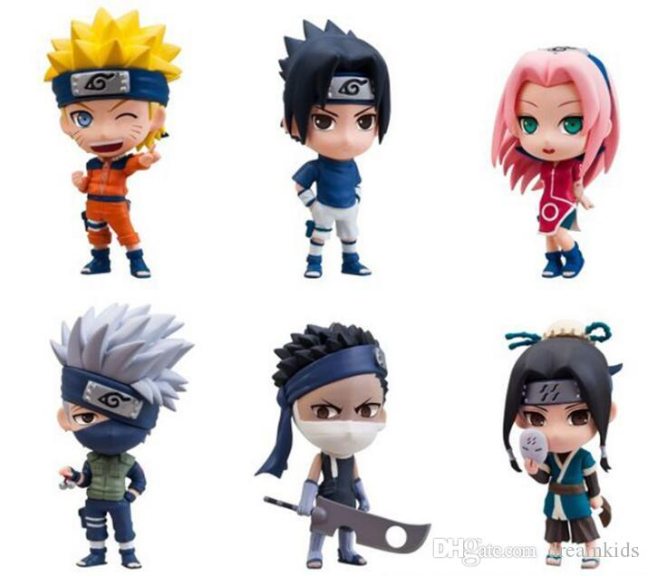 / set Japan Anime Naruto Figur Naruto Sakura kakashi sasuke haku Zabuza Q Version Action-Figur Spielzeug Puppe