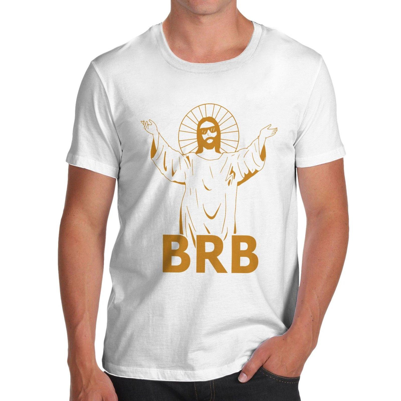 97973d207 Tee Shirts Men O Neck Tees Men'S Jesus Brb Be Right Back Funny T Shirt The  Following T Shirts This T Shirt From Robotrave21, $11.17  DHgate.Com