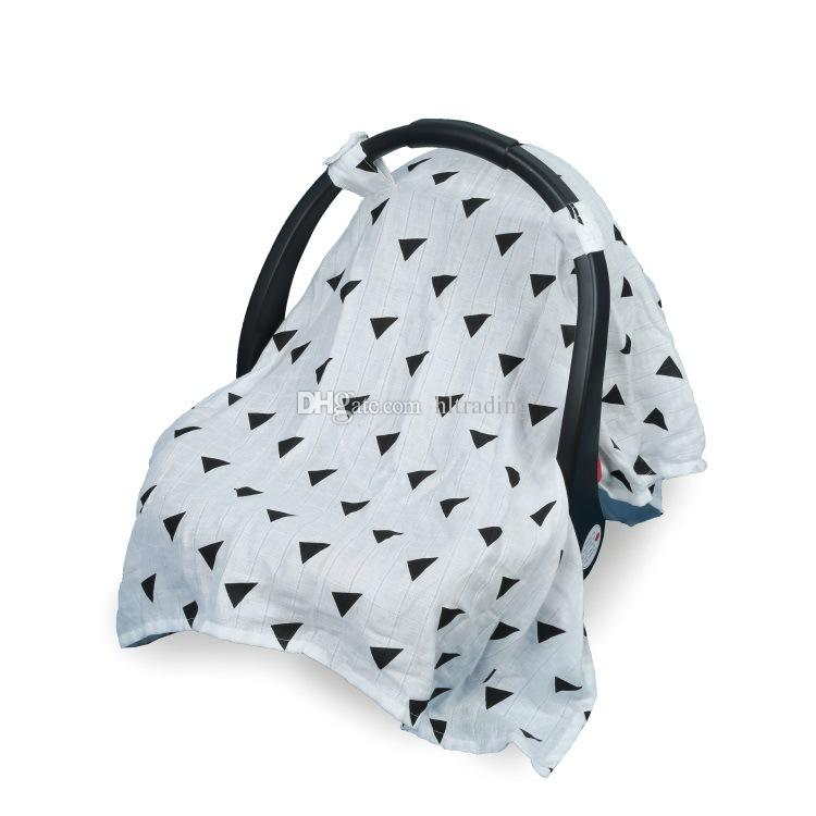 Cubierta de la sombrilla del bebé del oficio de enfermera de la impresión Cubierta del cochecito de la manta del portador infantil Cubierta de la protección del sol 130 * 110cm es C4186