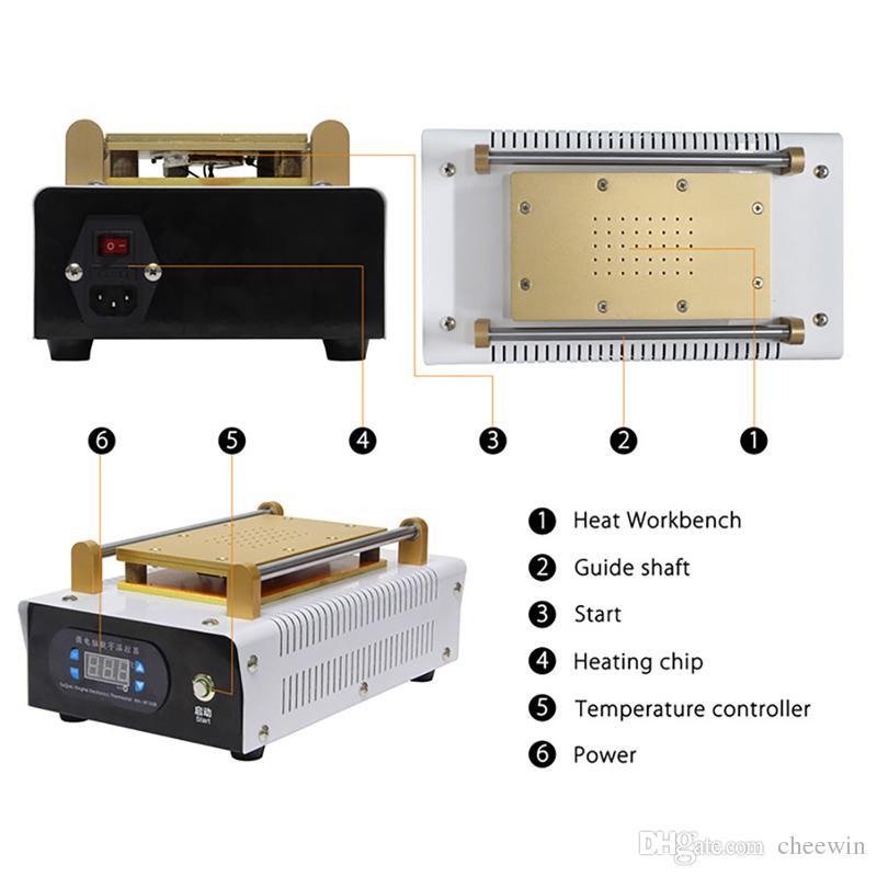 Strumenti di riparazione del telefono cellulare della macchina di rinnovamento dello schermo del separatore LCD da 7inch