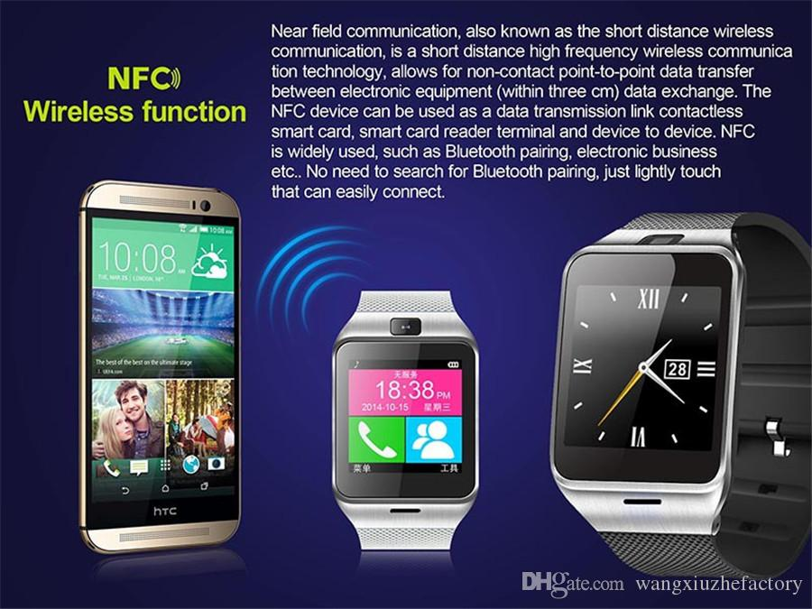 In Stock GV18 Bluetooth Smart Watch Sync SIM Card Phone Smart watch for iPhone 6 Plus Samsung S6 Note 5 HTC Android IOS