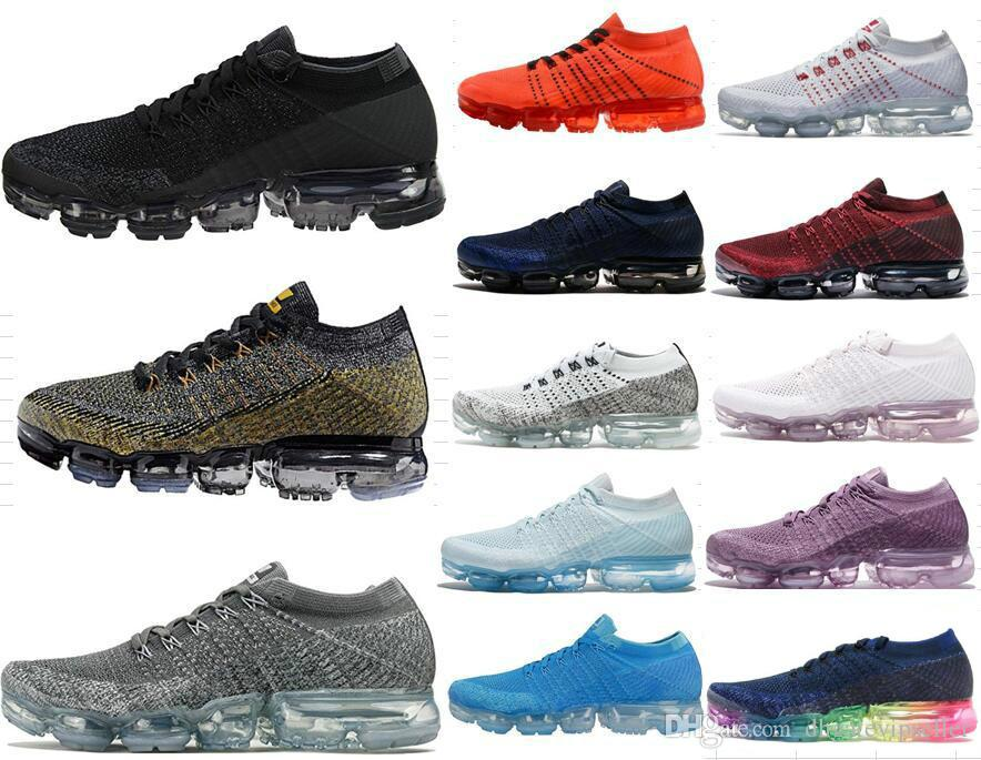 New Rainbow VaporMax 2018 BE TRUE Men Woman Shock casual Shoes For Real Quality Fashion Men Casual Vapor Maxes Sports Sneakers outlet newest discount cheap price outlet store myzXNN