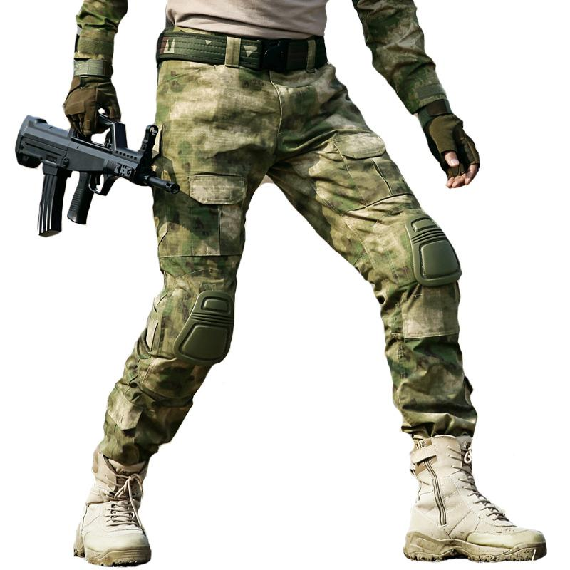 89244f3ddd310 2019 Military Tactical Pant SWAT Army Frog Pant Camouflage Cargo Pant Knee  Pads Men Pantalon Navy SEAL Work Trouser Hunter Trouser From Mingmusic002,  ...