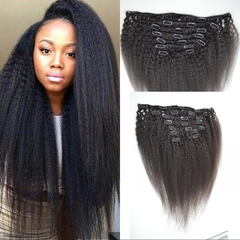 9654b5ff293dff Vietnamese Virgin Human Hair Clip Ins Kinky Straight Clip In Hair  Extensions For Black Women FDshine 28 Inch Hair Extensions 24 Inch Human  Hair Extensions ...