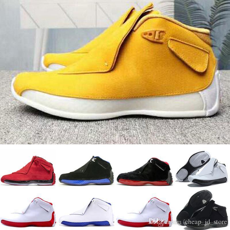 77259c77fabf8 Compre Nike Air Jordan Retro Max Shoes Zapatillas De Baloncesto 18 18s Toro  Red Suede Amarillo Naranja Azul Royal Cool Gris OG CDP Trainer Athletic  Sport ...