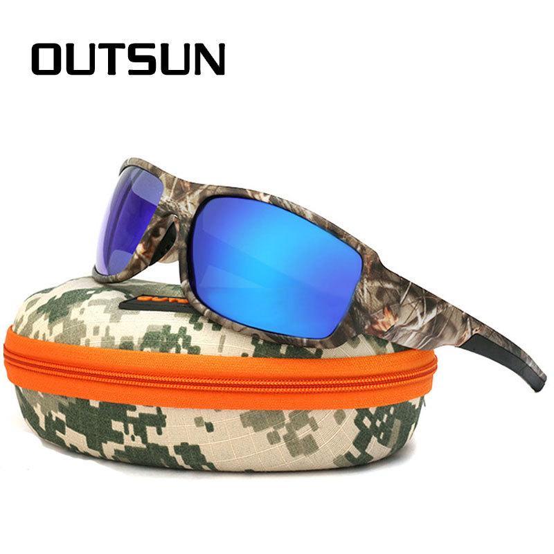 8d7c61aafda OUTSUN 2018 Polarized Sunglasses Men Women Sport Fishing Driving Sun Glasses  Brand Designer Camouflage Frame De Sol Locs Sunglasses Suncloud Sunglasses  From ...