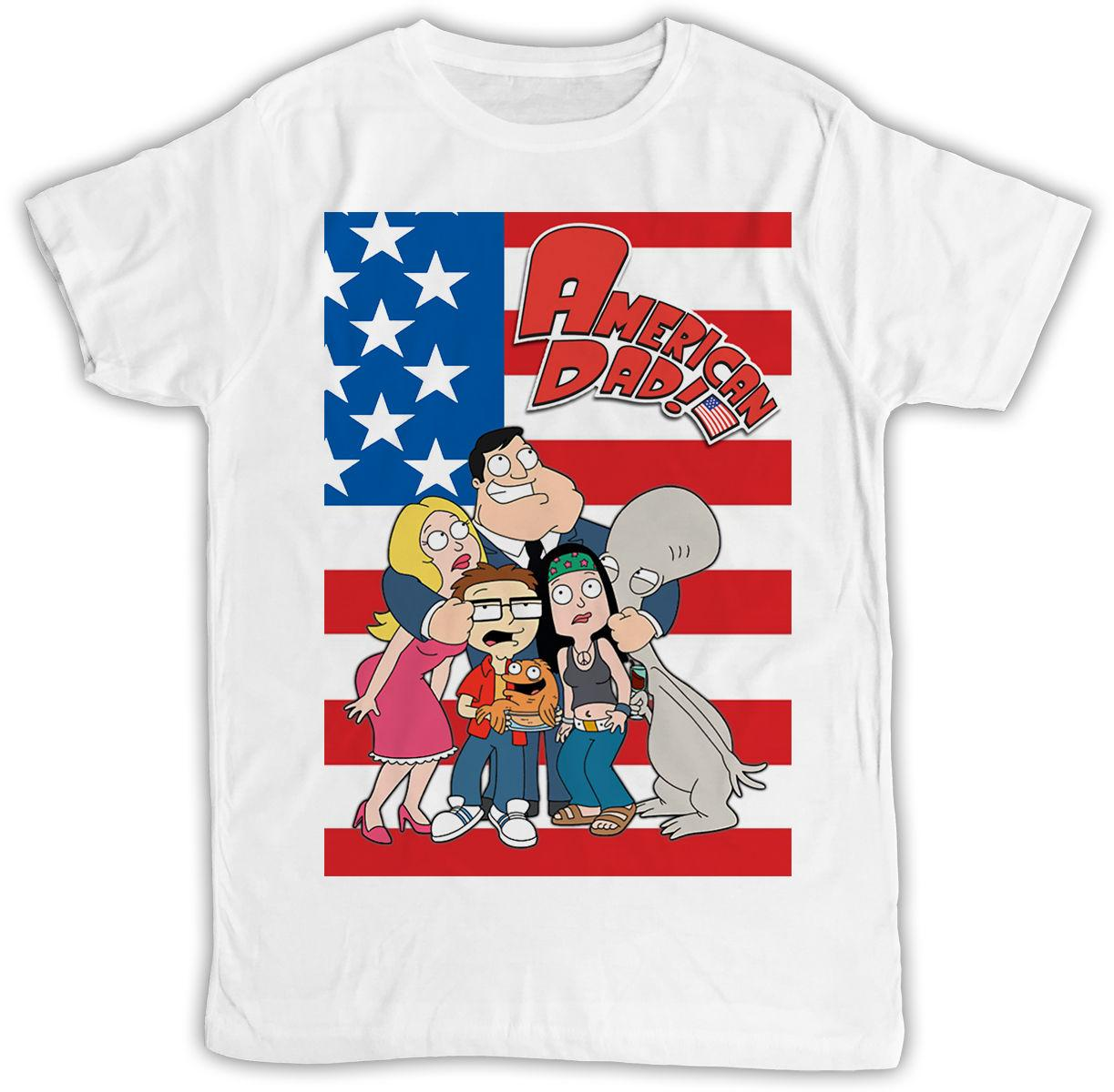 8ebc7d05d FUNNY MOVIE POSTER AMERICAN DAD FLAG IDEAL BIRTHDAY GIFT SHORT SLEEVE T  SHIRT Buy Tshirts The Who T Shirts From Bincheng9, $11.56| DHgate.Com