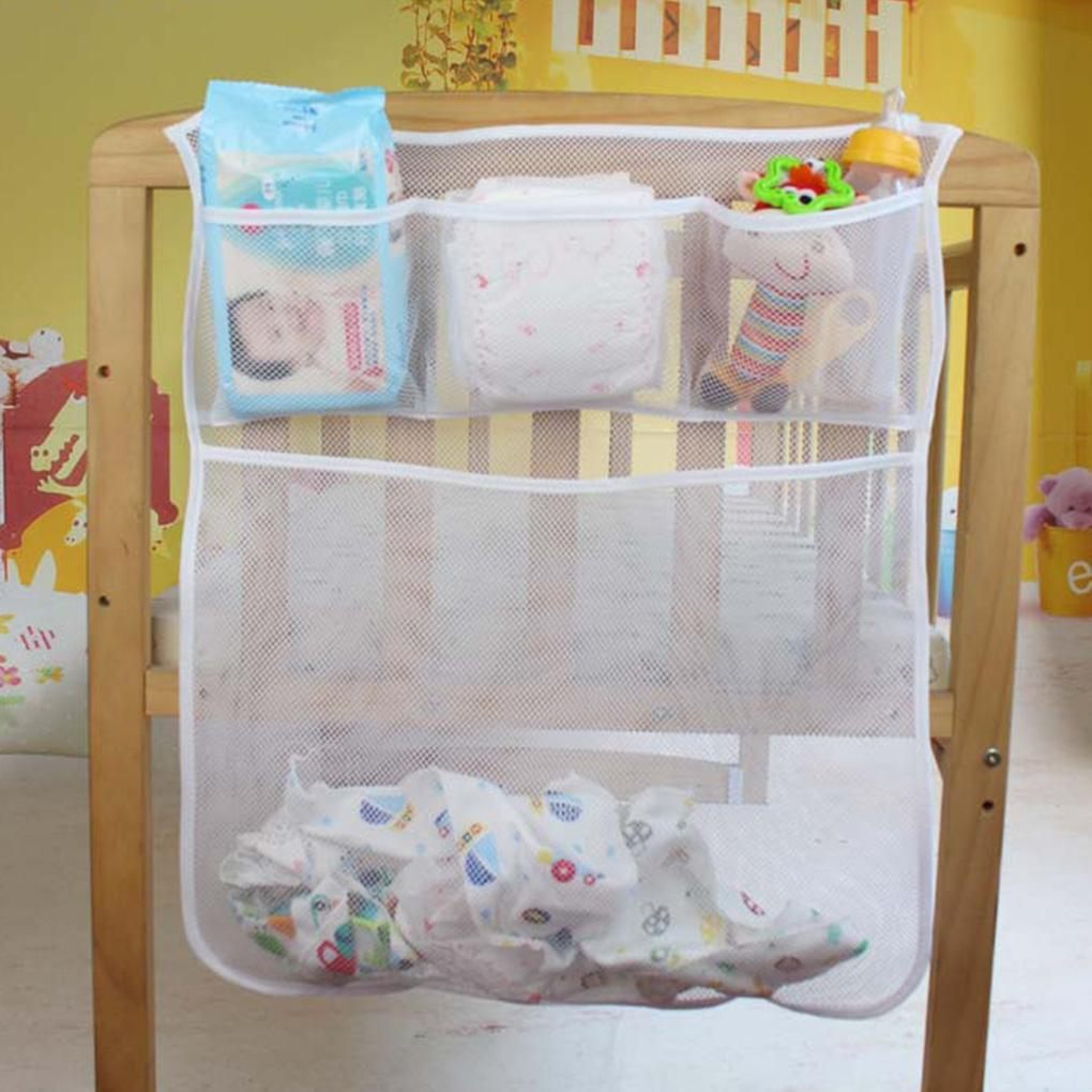 Grosshandel Baby Krippe Mesh Tasche Neugeborenen Bett Seitentasche