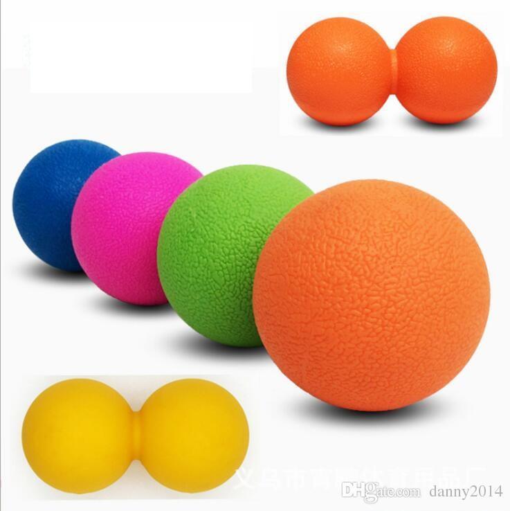palline di massaggio di arachidi la vita del piede Yoga Double Lacrosse Ball palle di rilassamento muscolare Palle di arachidi fitness Pilato