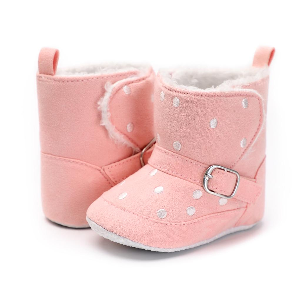 9ca1f41e99424 2019 Fleece Leather Baby Shoes Boys Girls Keep Warm Booties Winter Toddler  Infant Shoes Newborn Baby Snow Boots First Walkers From Universecp, ...