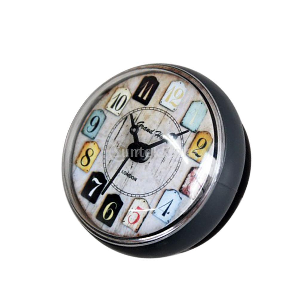 Ventouse horloge murale minuterie cuisine salle de bains douche silicone  horloge étanche 80mm