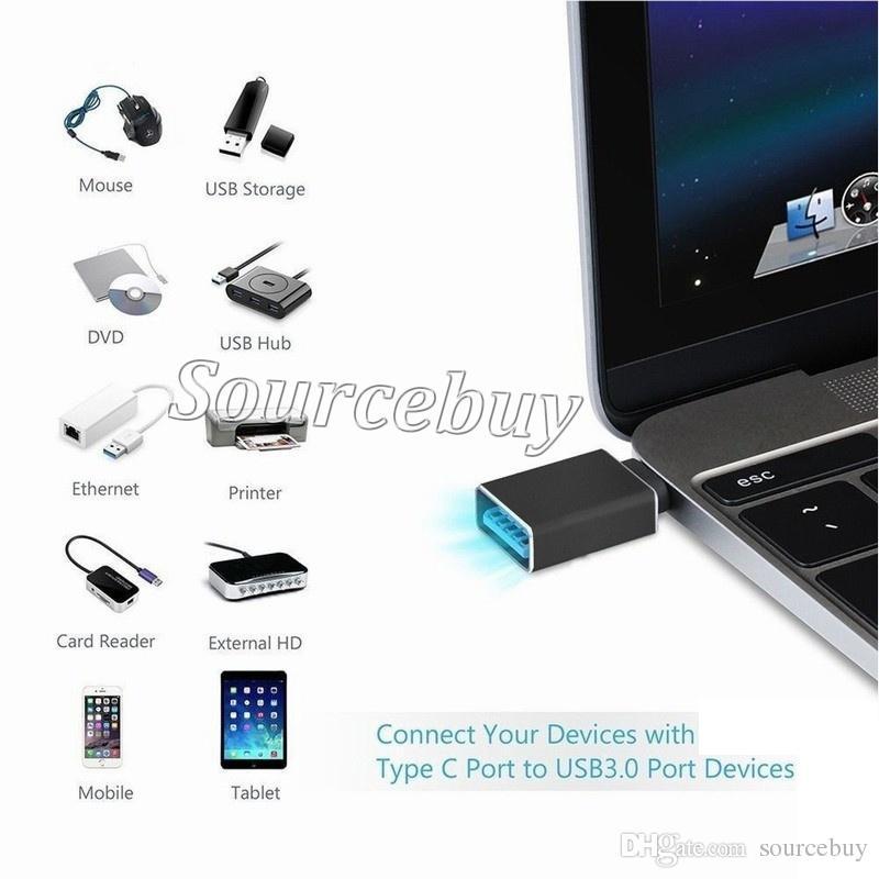USB نوع- C OTG محول USB 3.0 نوع ج OTG Adaptador ل XIAOMI MI4C هواوي نيكزس 5X كابل شحن البيانات نوع C ميناء