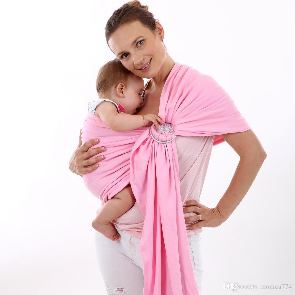 100 % 코튼 앞면 메탈 링 컴포트 유아용 배낭 유아용 배낭 편안한 신생아 수평 슬링