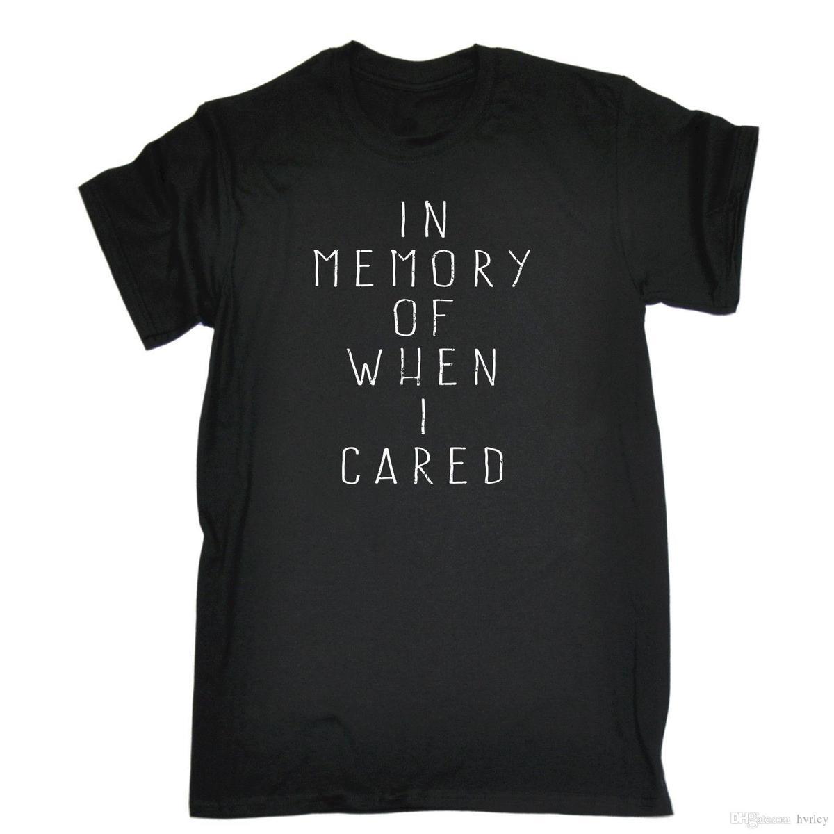 In Geheugen Van Wanneer Ik Verzorgd Mens T Shirt Verjaardag Grappige