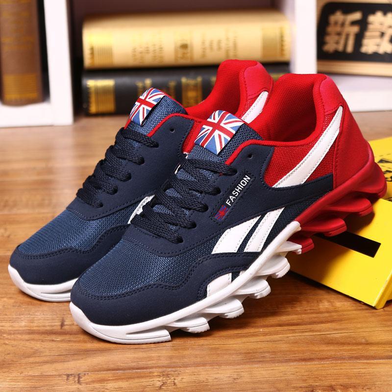 Compre 2018 Quatro Estações Running Shoes Para Homem Malha Respirável  Athletic Alta Qualidade Ao Ar Livre Atividades Esportes Lace Up Homens Tênis  De ... 5ad69df236356