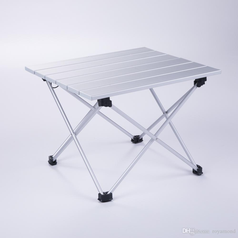 Aluminum Folding Collapsible Camping Table Roll Up With