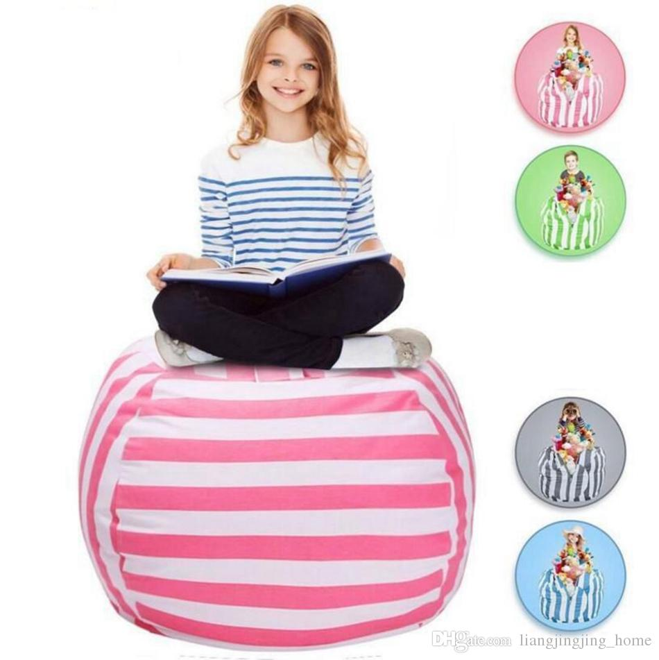 2018 Kids Stuffed Animal Storage Bean Bag 18inch Cotton Canvas Organizer Box Organization Sack Chair Portable Clothes Storage Ooa4637 From ...  sc 1 st  DHgate.com & 2018 Kids Stuffed Animal Storage Bean Bag 18inch Cotton Canvas ...