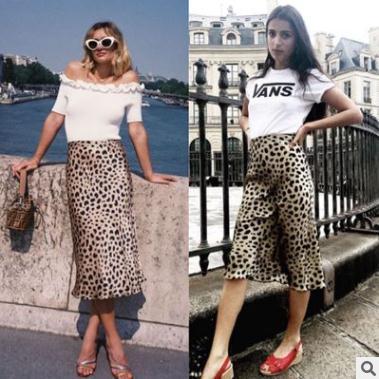 e3a9736b7 Vestido de las mujeres 2018 nuevo estilo europeo Falda de la impresión de  leopardo de tendencia de venta caliente Sexy falda de moda MIDI