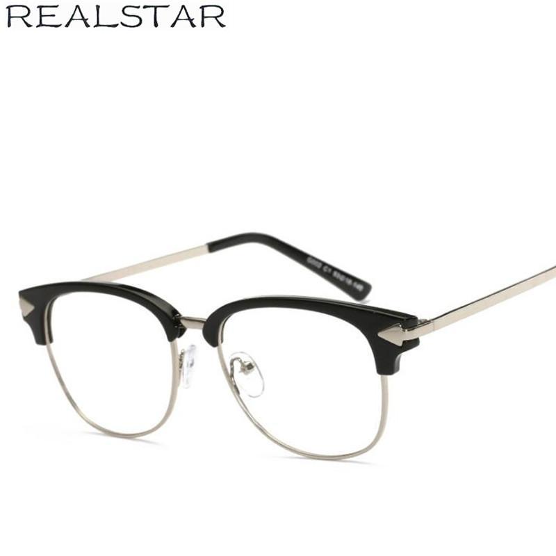 db2799bd770c 2019 REALSTAR 2018 Retro Half Metal Arrow Eyeglasses Frames For Women  Myopia Optical Glasses Frame Lasses Women Oculos S271 From Lbdwatches,  $38.1   DHgate.