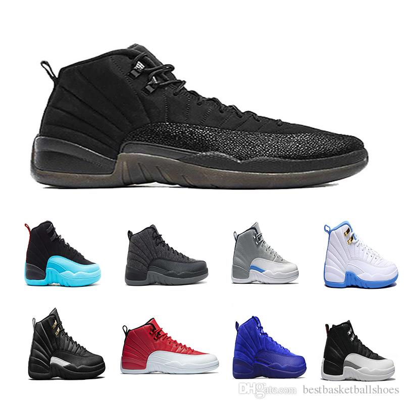 85ca4a11c4d9 2018 Mens Basketball Shoes 12 White French Gamma Blue Flu Game ...
