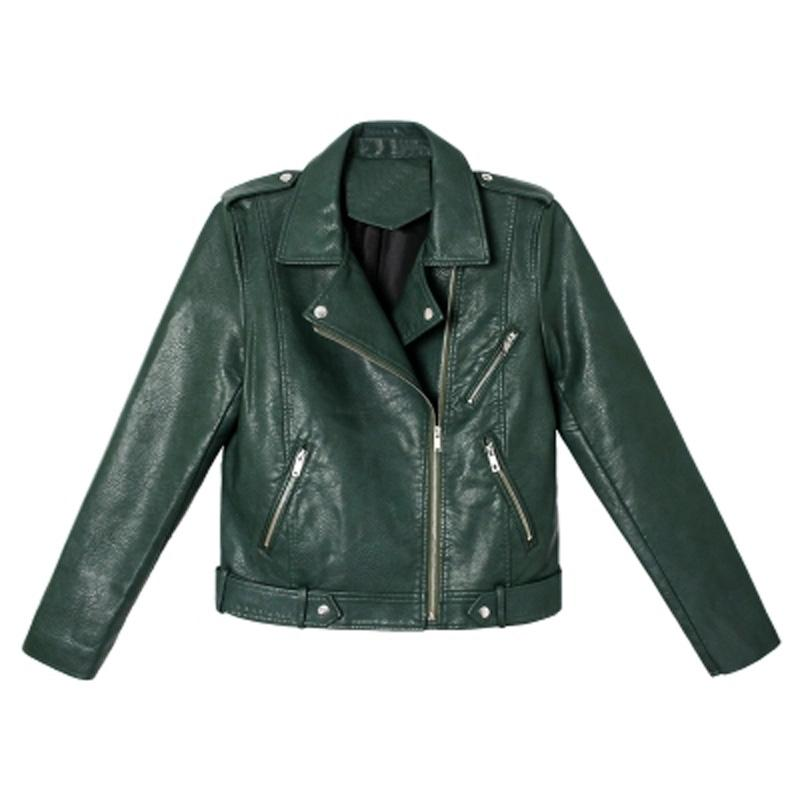 2019 2018 New Autumn Winter Women Motorcycle Faux Pu Leather Jacket