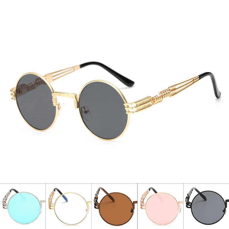 ee7bf1724ec9 Steampunk Sunglasses Men Metal Round Shades Male Clear Sun Glasses For  Women Hip Hop Steam Punk Sunglasses For Women Men Police Sunglasses  Serengeti ...