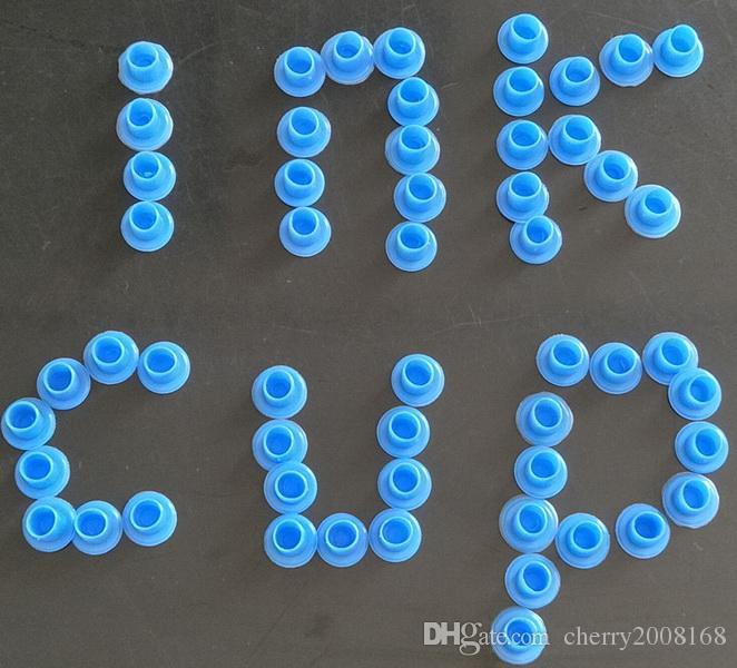 Nouvelle Arrivée En Gros-Bleu TATOUAGE ENCRE CUPS Caps Pigment Fournitures Petite Taille Tatouage Fournitures Pour Machine Kits