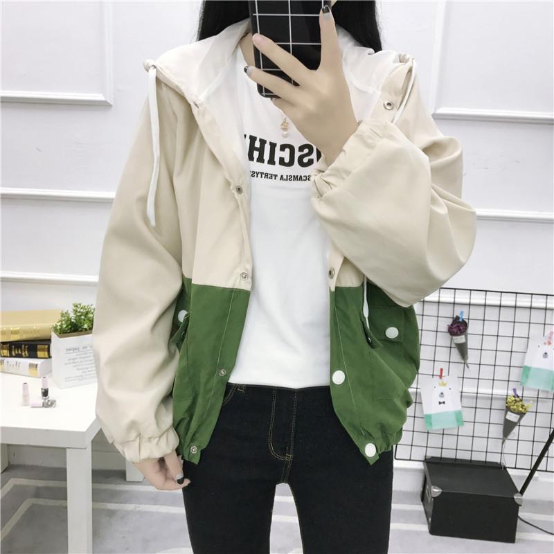 Outwear Print Lose Basic Damen Jacke Bomber Kapuze Mantel Frauen Cartoon Reißverschluss Mit 2018 Stickerei Herbst Tasche qMVpSUGz
