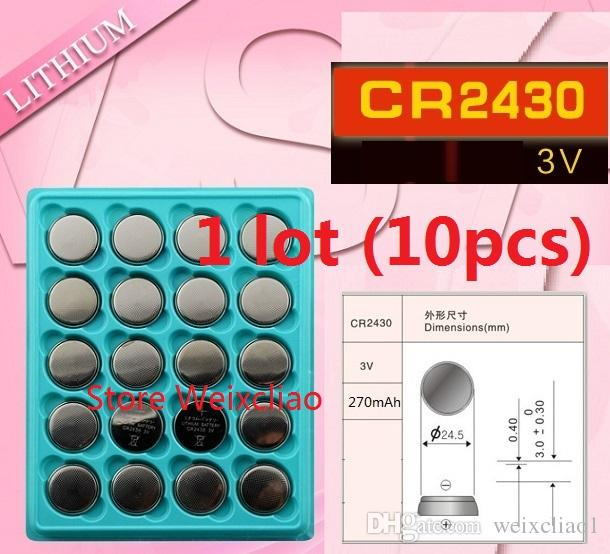 1 CR2430 3V lithium li ion button cell battery CR 2430 3 Volt li-ion coin batteries tray package