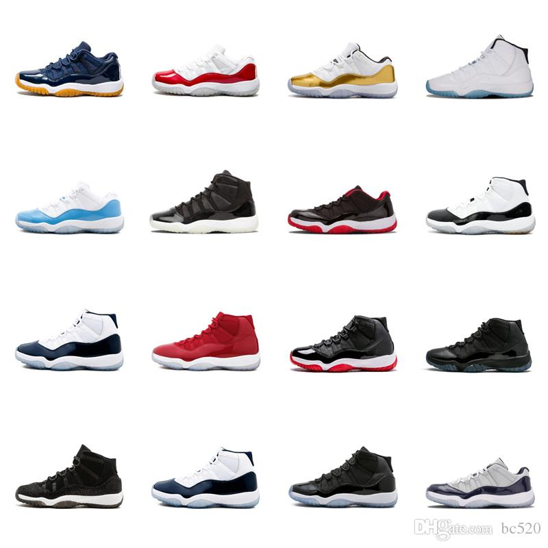 on sale 9c6b9 1099b Compre Nike Air Jordan 11 Venta Al Por Mayor 11 Baile De Fin De Curso Night  Gym Red Midnight Navy Negro Stingray Bred Concord Space Jam Zapatos 11s Para  ...