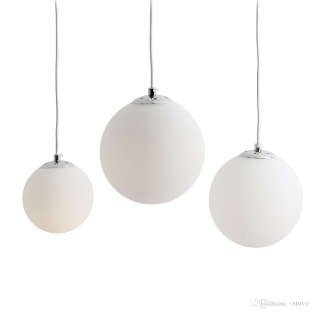 White Frosted Glass Ball Porch Restaurant Pendant Light Dining Room  Corridor Balcony Polished Chrome Pendant Light Lights For Ceiling Pendant  Light Kitchen ...