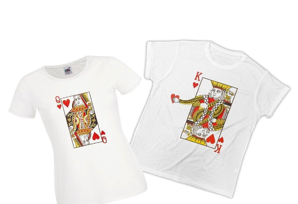 d79f2d4d33 King Or Queen T Shirt His And Hers Wedding Ideal Gift Couples Matching  Tshirt Rude Tshirts Offensive Tee Shirts From Liguo0036, $15.53| DHgate.Com