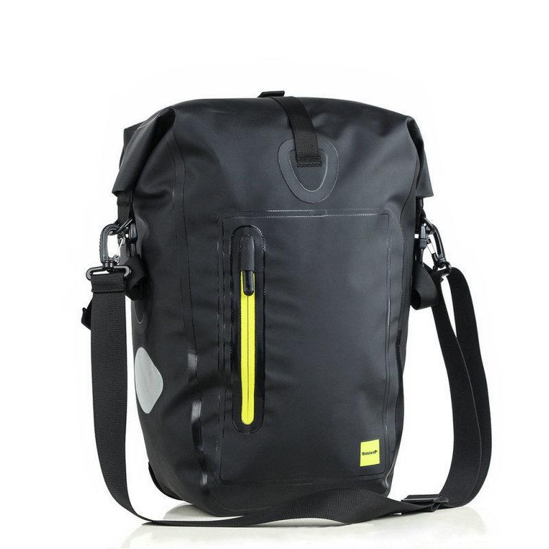 Large Capacity Waterproof Bike Bag Travel Bike Saddle Bag With Reflective Rope