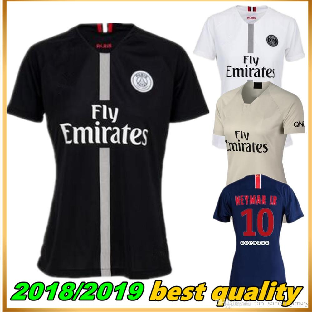 lowest price ec275 fe31b Women Thailand maillots PSG soccer jersey 2019 Paris 3rd third MBAPPE saint  germain JR jersey 18 19 Survetement football shirt women